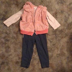 Fleecy vest set